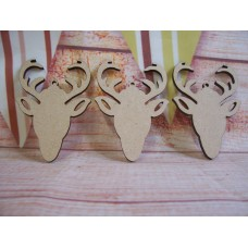 laser cut Stag Head 70mm PACK OF 5