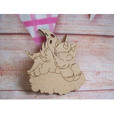 Laser cut  Unicorn on  a Cloud Pack of 5