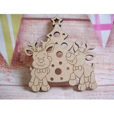 Laser cut  Reindeer with Tree Pack of 5