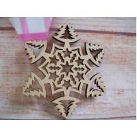Laser cut Christmas tree snowflake Pack of 5