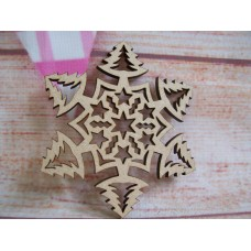 Laser cut Christmas tree snowflake Pack of 5