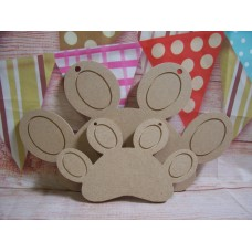 6mm MDF Dog paw 150mm wide
