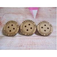 Santa Button 35mm
