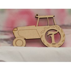 3mm Personalised Tractor  100mm
