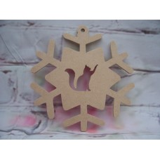 4mm MDF   Cat Snowflake 200mm