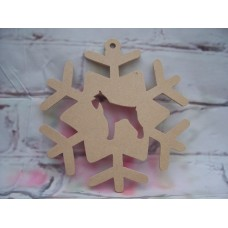 4mm MDF Dog ( ANY BREED) Snowflake 200mm