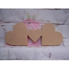 12mm  MDF Freestanding Hearts 200mm wide