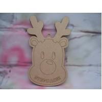 Laser Cut Personalised Reindeer bauble