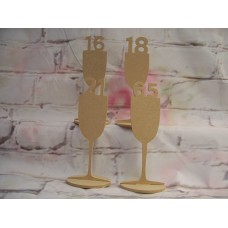 4mm Thick MDF Wine Glass  ANY AGE