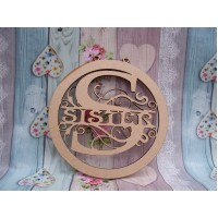 Sisiter Monogram bauble 150mm
