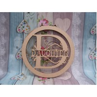 Daughter Monogram bauble 150mm