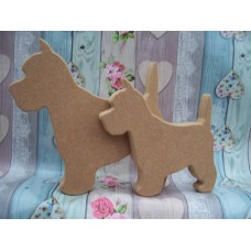 18mm Thick MDF Small Westie Dog