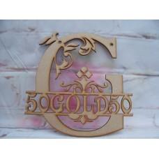 50 Gold Monogram