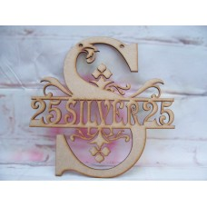 25th silver  Monogram