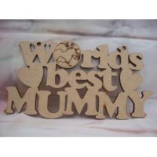 Worlds Best Mummy  Plaque