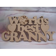 Worlds Best Granny  Plaque