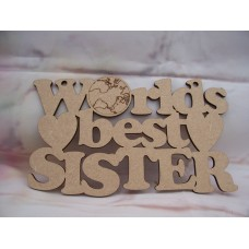 Worlds Best Sister  Plaque