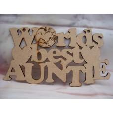 Worlds Best Auntie Plaque