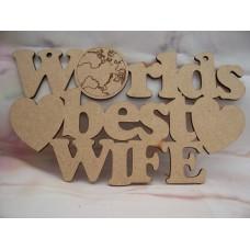 Worlds Best Wife Plaque