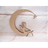 Fairy on a moon  MDF 100mm