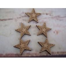 Mini Stars 20mm Pack of 50