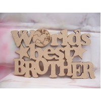 Worlds Best Brother Plaque