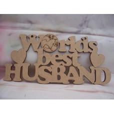 Worlds Best Husband Plaque
