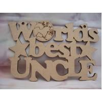 Worlds Best Uncle  Plaque