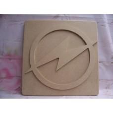 Super Hero Plaque Flash