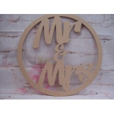 6mm MDF Mr and MRS Hoop 400mm