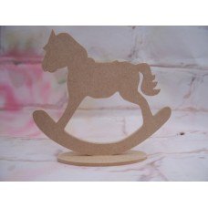 4mm MDF Rocking horse on a base