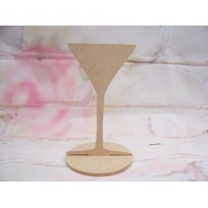 4mm MDF Cocktail glass 130mm tall