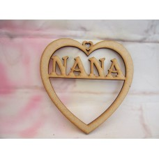 3mm MDF Nana Heart 125mm