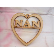3mm MDF Nan Heart 125mm