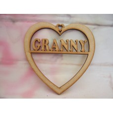 3mm MDF Granny Heart 125mm