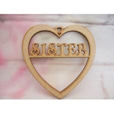 3mm MDF Sister Heart 125mm