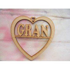3mm MDF Gran Heart 125mm