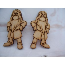 3mm MDF Gnomes Pack of 5 70mm