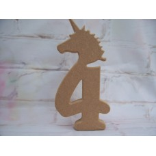 18mm MDF Unicorn Numbers  230mm