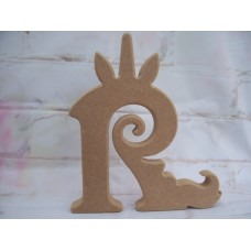 18mm MDF freestanding Unicorn letters 200mm tall