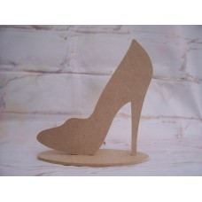 4mm Thick MDF Standing shoe plaque 160mm tall