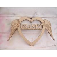 Granny Angel Wing Heart