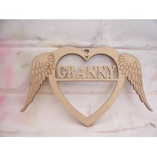 Granny Angel Wing Heart