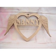 Nanny Angel wing Heart