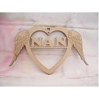 Nan Angel wing Heart