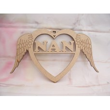 Nan Angel wing Heart