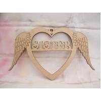 Sister Angel Wing Heart