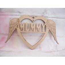 mummy angel wing Heart