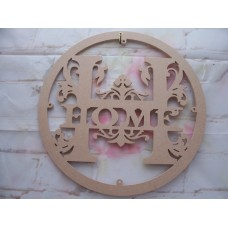 6mm MDF Home Hoop Monogram 400mm