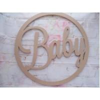 Baby wall art Hoop 580mm